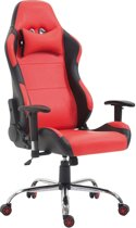 Clp ROSBERG - Racing bureaustoel - kunstleer - rood