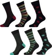 Apollo Fashion Sokken - 6 pack - Multicolour - Maat 40-46