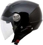 Helm MT City-Eleven sv Solid zwart L