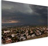 Uitzicht op het Albuquerque in Noord-Amerika met een donkere hemel Plexiglas 30x20 cm - klein - Foto print op Glas (Plexiglas wanddecoratie)