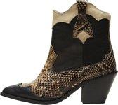Selected Femme Dames Cowboylaarzen - Black