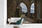 Fotobehang vinyl - Uitzicht op het interieur van de citadel in Frankrijk breedte 390 cm x hoogte 260 cm - Foto print op behang (in 7 formaten beschikbaar)