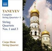 Taneyev: String Quartets V.1