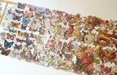 Poëzieplaatjes 9 vellen - Vlinders, Vogels, Bloemen, Poezen en Roosjes