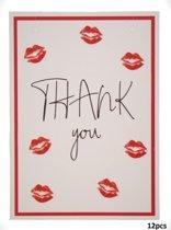Kaartje voor Sieraden - Giftcard - Set van 12 Stuks - Formaat A6 - Thank you - Dielay
