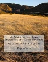 60 Worksheets - Find Successor of 4 Digit Numbers