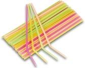 Neon kleuren rietjes 80 stuks