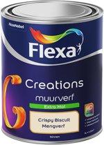 Flexa Creations Muurverf - Extra Mat - Crispy Biscuit - 1 liter