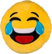 Emoticon kussen lachend 30 cm