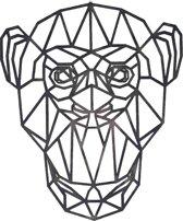 FBRK. Bull 95 x 80 cm Taupe - Geometrische dieren -Wanddecoratie