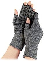 Therapeutische Reuma Artritis Compressie Handschoenen met Anti-Slip voor Pijnverlichting, Ondersteuning & Verbetering van de Bloedsomloop | Grijs Small