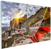 Omani gebedsvlag India Glas 60x40 cm - Foto print op Glas (Plexiglas wanddecoratie)