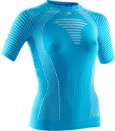 X-Bionic Running Effektor Power  Sportshirt - Maat S  - Vrouwen - blauw/wit