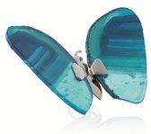 Vlinder van Edelsteen Agaat Blauw