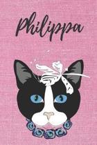 Philippa Katzen-Malbuch / Notizbuch Tagebuch: Individuelles personalisiertes blanko M�dchen & Frauen Namen Notizbuch, blanko DIN A5 Seiten. Ideal als