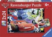 Ravensburger Disney Cars Dolle race Twee puzzels van 24 stukjes