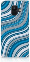 Samsung Galaxy A6 (2018) Standcase Hoesje Design Waves Blue