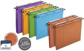 25x L'Oblique hangmappen voor laden AZO tussenafstand 330mm (A4), bodem 30mm, oranje