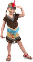 Indianen Jurkje Meisje 2delig- Verkleedkleding- Maat M