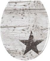 Toiletbril Wenko Star 45x37.5cm Duroplast RVS Multi