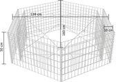 vidaXL Schanskorf plantenbak zeshoekig 160x140x50 cm
