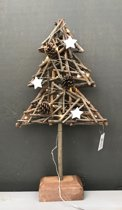 Decoratie Kerstboom hout met licht! Klein