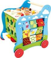 Loopwagen hout met activiteiten (baby walker) - Klaas Vaak - Houten speelgoed vanaf 1 jaar