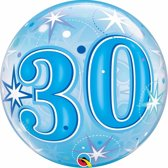 Folie helium ballon 30 jaar blauw 45 cm