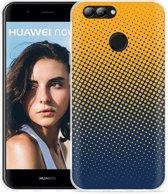 Huawei Nova 2 Hoesje geel blauwe cirkels