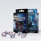 Classic RPG Dice Set translucent & red