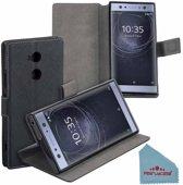 Pearlycase® Zwart Y Wallet Bookcase Hoesje voor Sony Xperia XA2 Ultra