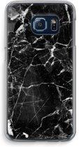 Samsung Galaxy S6 Edge Transparant Hoesje (Soft) - Zwart Marmer 2