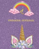 Unicorn Journal L: An activity book for writing and drawing for girls with your favorite character
