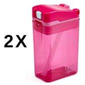 Drink in the Box 2 Pack Pink  - Twee Hervulbare Drinkpakjes - Roze