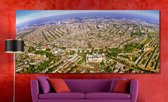 Amsterdam in Panorama op Canvas | 240 x 100 cm