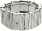 Rekarmband zilverkleurig