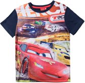Disney-Cars-T-shirt-met-korte-mouw-marineblauw-maat-104