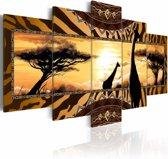 Schilderij - Afrika,  5luik
