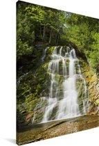 Waterval in het Nationaal park Forillon in Canada Canvas 90x140 cm - Foto print op Canvas schilderij (Wanddecoratie woonkamer / slaapkamer)