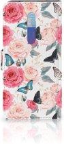Xiaomi Redmi K20 Pro Hoesje Butterfly Roses