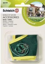 Schleich Groen paardendeken met halster 42119 - Accessoire - Horse Club - 13,9 x 9,1 x 3,2 cm