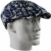 Linnen flat cap met print voor heren