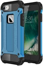 Mobiq - Rugged Armor iPhone 8/7 Hoesje Blauw