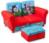 Kinderbank met Poef Mickey Mouse