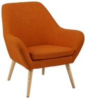 Hioshop Relaxfauteuil Ask oranje fauteuil