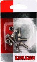 Simson inbusbouten M5 x 12 mm zilver 5 stuks