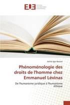 Ph nom nologie Des Droits de l'Homme Chez Emmanuel L vinas