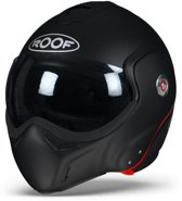 ROOF BoXXer Carbon Mat Zwart Systeemhelm - Motorhelm - Maat M/S