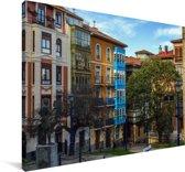 Kleurrijke huizen in Panama Stad Canvas 90x60 cm - Foto print op Canvas schilderij (Wanddecoratie woonkamer / slaapkamer)