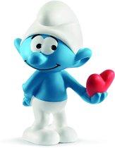 Schleich Smurf met hart 20817 - Speelfiguur  - De Smurfen - 3,7 x 3,1 x 5,5 cm